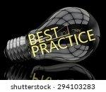 best practice   lightbulb on... | Shutterstock . vector #294103283