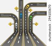 road   street  infographic... | Shutterstock .eps vector #294103670