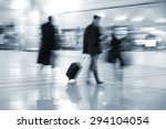 fast walking businessmen in an... | Shutterstock . vector #294104054