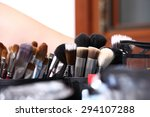 makeup brushes  closeup  | Shutterstock . vector #294107288