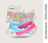friendship bands with text best ... | Shutterstock .eps vector #294111560
