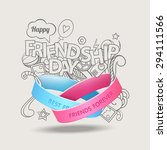 friendship bands with text best ... | Shutterstock .eps vector #294111566