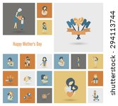 happy mothers day simple flat... | Shutterstock .eps vector #294113744