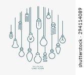 creative idea light bulb line... | Shutterstock .eps vector #294114089
