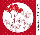 love card design  vector...   Shutterstock .eps vector #294114263