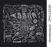 barbecue grill party.cook idea. ... | Shutterstock .eps vector #294115520