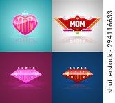 Funny Super Mom Logo Set....