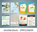 set of flyer  brochure design... | Shutterstock .eps vector #294116654