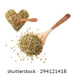 wooden spoon covered with... | Shutterstock . vector #294121418