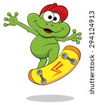 illustration of a cartoon frog... | Shutterstock . vector #294124913