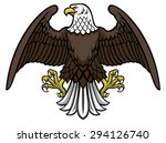 bald eagle spread the wing | Shutterstock .eps vector #294126740