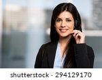 portrait of a beautiful... | Shutterstock . vector #294129170