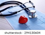 cardiogram with stethoscope and ...   Shutterstock . vector #294130604