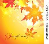 autumn maple leaves background | Shutterstock .eps vector #294135314