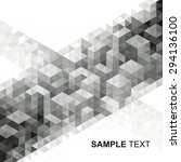 abstract modern geometric urban ... | Shutterstock .eps vector #294136100