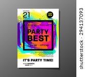 party flyer template. vector... | Shutterstock .eps vector #294137093