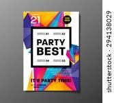 party flyer template. vector... | Shutterstock .eps vector #294138029
