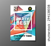 party flyer template. vector... | Shutterstock .eps vector #294138038