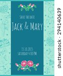 wedding watercolor vector... | Shutterstock .eps vector #294140639