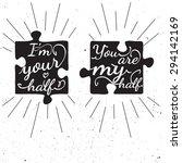 black and white motivational... | Shutterstock .eps vector #294142169