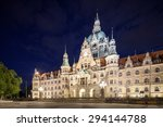 Stock photo hannover city at night 294144788