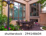 luxury villa exterior | Shutterstock . vector #294148604