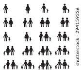 family icons set  | Shutterstock .eps vector #294159236