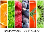 healthy food background.... | Shutterstock . vector #294160379