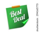 best deal green sticky notes...   Shutterstock .eps vector #294165773