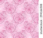 seamless floral pattern with... | Shutterstock . vector #294166508