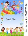 kids  background | Shutterstock .eps vector #294170594