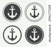 set of anchors in vintage style.... | Shutterstock .eps vector #294177209