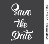 save the date vector card... | Shutterstock .eps vector #294177458