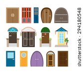 collection of house doors.... | Shutterstock .eps vector #294180548