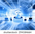 secure wireless network devices | Shutterstock . vector #294184664