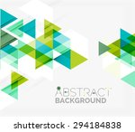 abstract geometric background.... | Shutterstock .eps vector #294184838