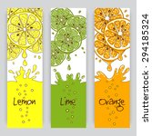 vertical vector banners with... | Shutterstock .eps vector #294185324