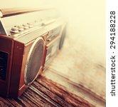 retro radio cassette stereo... | Shutterstock . vector #294188228
