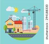 flat design vector building... | Shutterstock .eps vector #294188330