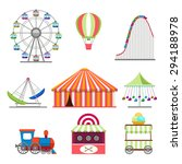amusement park icons set in... | Shutterstock .eps vector #294188978