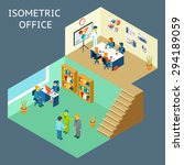 office work. isometric flat 3d... | Shutterstock .eps vector #294189059