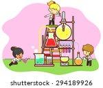 cartoon children are studying... | Shutterstock .eps vector #294189926