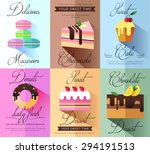 pastry and bakery desserts mini ... | Shutterstock .eps vector #294191513