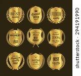 golden premium quality retro... | Shutterstock .eps vector #294191990