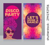 template for disco party with... | Shutterstock .eps vector #294192956