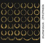 laurel wreaths vector collection | Shutterstock .eps vector #294194606