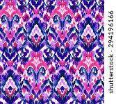 Seamless Ethnic Ikat Pattern I...