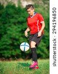 woman footballer | Shutterstock . vector #294196850