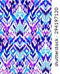 seamless ikat textile pattern.... | Shutterstock . vector #294197120