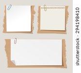 set of different vector note... | Shutterstock .eps vector #294198410